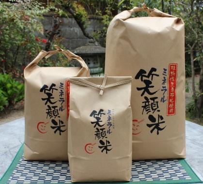笑顔米の米俵パック